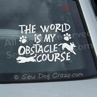 Obstacle Course Dog Parkour Window Decal