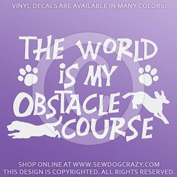 Obstacle Course Dog Parkour Vinyl Sticker