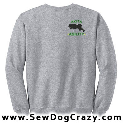 Embroidered Akita Agility Sweatshirt
