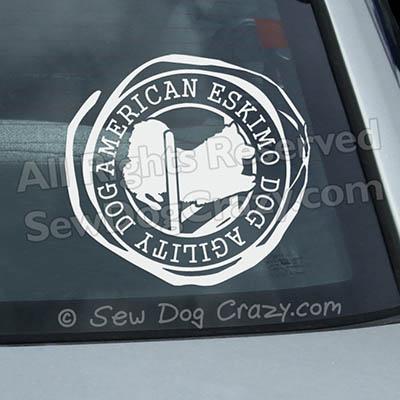 American Eskimo Dog Agility Car Decals