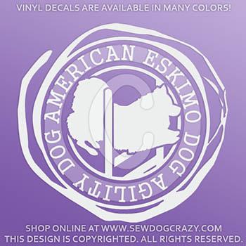 American Eskimo Dog Agility Vinyl Stickers