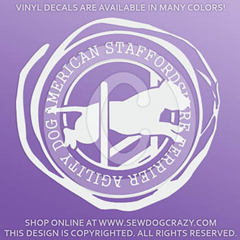 American Staffordshire Terrier Agility Vinyl Decals