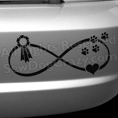 Show Dogs Conformation Ribbon Vinyl Stickers