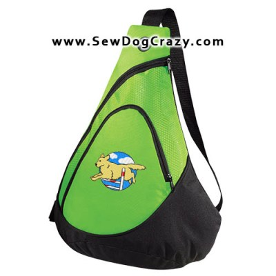 Embroidered Golden Retriever Agility Bag
