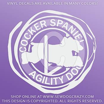 English Cocker Spaniel Agility Vinyl Stickers