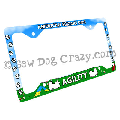 Eskie Agility License Plate Frame