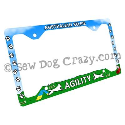 Kelpie Agility License Plate Frame