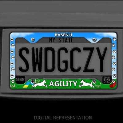 Basenji Agility License Plate Frame