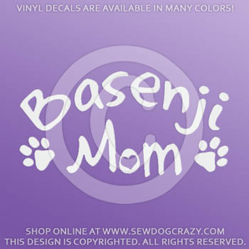 Basenji Mom Car Sticker