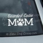 Bearded Collie Mom Window Sticker