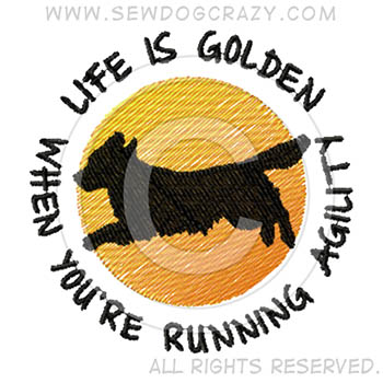 Golden Retriever Agility Shirts