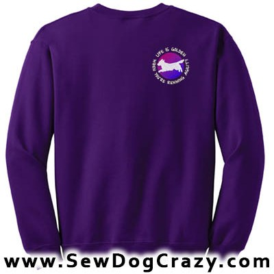 Embroidered Golden Retriever Agility Sweatshirts