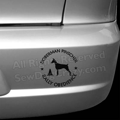 Doberman Rally Obedience Decals