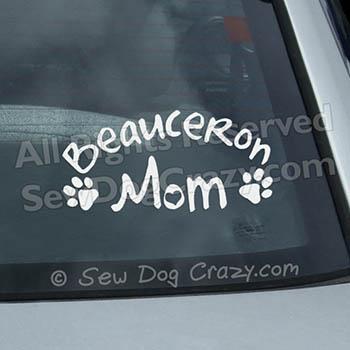 Beauceron Mom Car Window Sticker