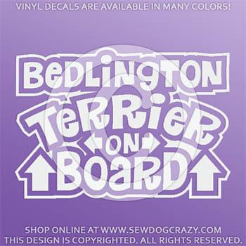 Bedlington Terrier On Board Vinyl Decals