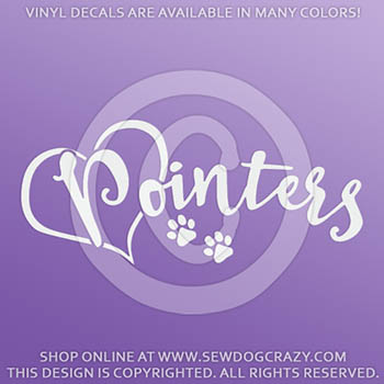 Love Pointers Car Vinyl Stickers