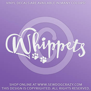 Love Whippets Decal