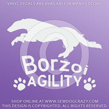 Borzoi Agility Stickers
