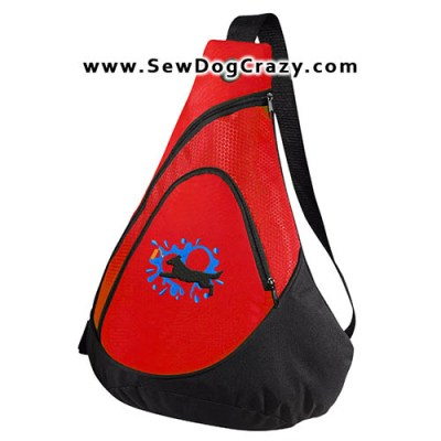 Embroidered Flat Coated Retriever Dock Jumping Bags