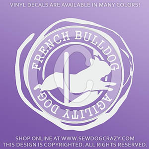 French Bulldog Agility Jump Vinyl Decals