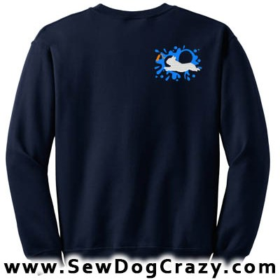 Embroidered French Bulldog Dock Jumping Sweatshirts