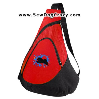 Embroidered Keeshond Dock Jumping Bag