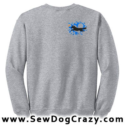 Embroidered Toller Dock Jumping Sweatshirt