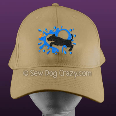 Embroidered Pit Bull Dock Jumping Hats