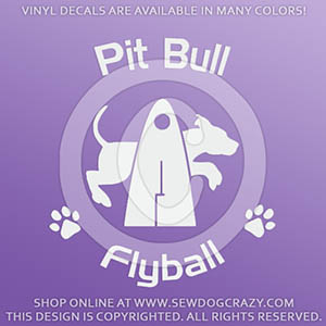 Pit Bull Flyball Decals