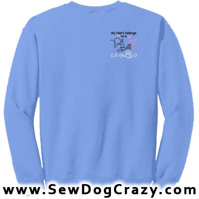 Embroidered Love My Pit Bull Sweatshirts