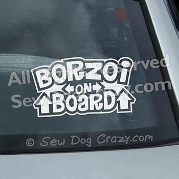 Borzoi on Board Window Decals