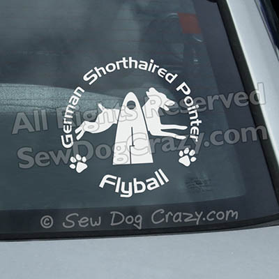 German Shorthaired Pointer Flyball Car Stickers