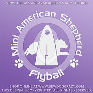 Miniature American Shepherd Flyball Decal