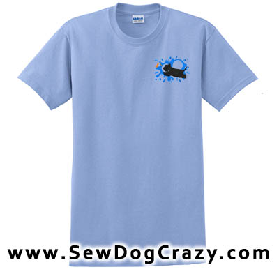Embroidered Scottish Terrier Dock Jumping Tshirts