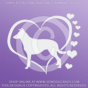 Heart Smooth Collie Decals