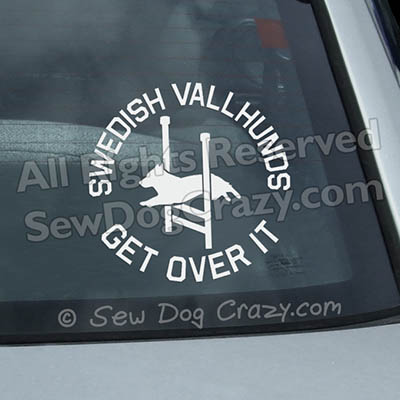 Funny Swedish Vallhund Agility Window Decals