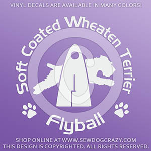 Soft Coated Wheaten Terrier Flyball Decals