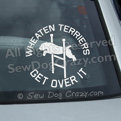 Funny Agility Wheaten Terrier Window Stickers