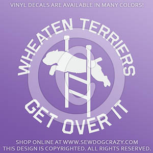 Funny Agility Soft Coated Wheaten Terrier Decals