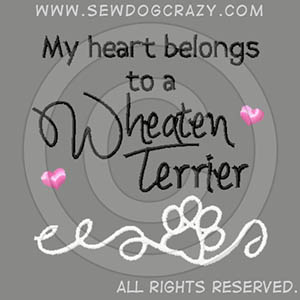Pretty Embroidered Soft Coated Wheaten Terrier Shirts