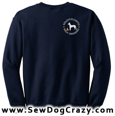 Embroidered Xolo Rally Obedience Sweatshirt