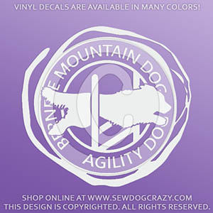 Bernese Mountain Dog Agility Car Stickers