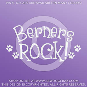 Bernese Mountain Dogs Rock Decal