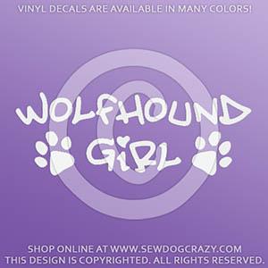 Irish Wolfhound Girl Decal