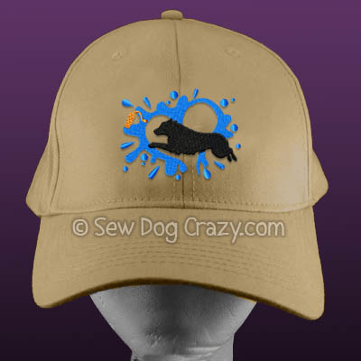 Embroidered Miniature American Shepherd Dock Jumping Hat