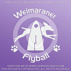 Flyball Weimaraner Decals
