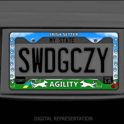 Irish Setter Agility License Plate Frames