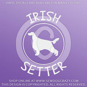 Irish Setter Decals