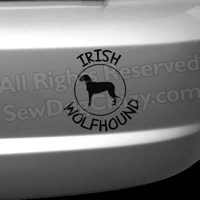 Irish Wolfhound Vinyl Decals