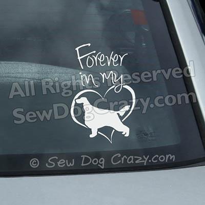 Forever In My Heart Irish Setter Window Stickers